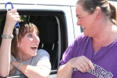 """High School """"It's a gas to go to class"""" car giveaway winner."""