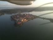 Flying into Flores