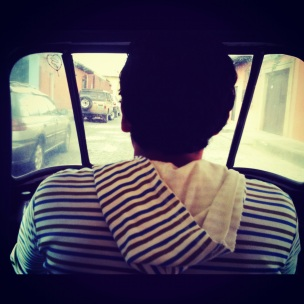 View from the back of a Tuk-Tuk