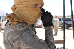 KAT MINER, SPECIAL TO THE DAILY PRESSWar games were in full swing at the former George Air Force Base in Victorville on Saturday. Seen here are participants in Operation Lion Claws Military Simulation Series. More than 800 people from as far away as Brazil took part.