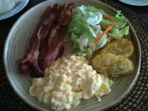 """American"" breakfast, Philippines"