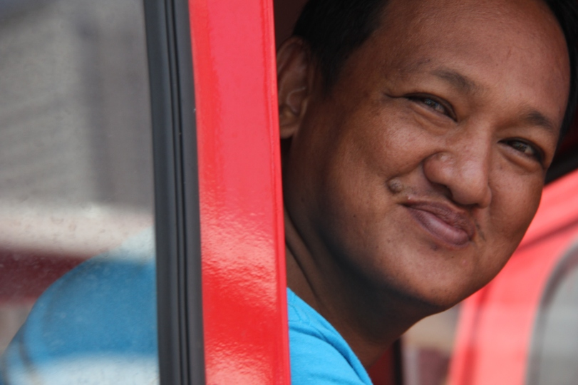 Friendly passer-by in Manila. The locals were so warm and friendly. Always ready with a smile.