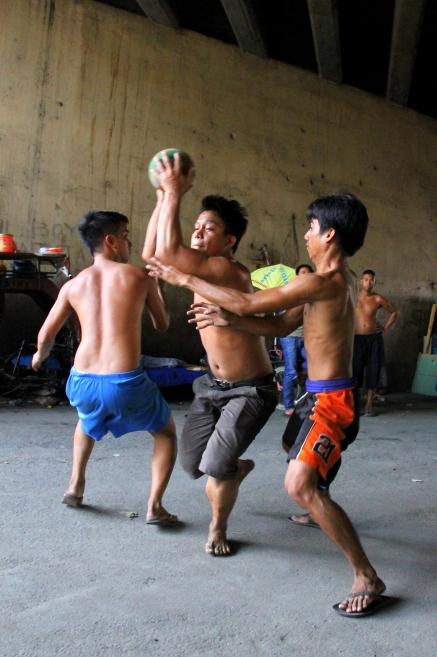 Street basketball, Santa Mesa, Manila