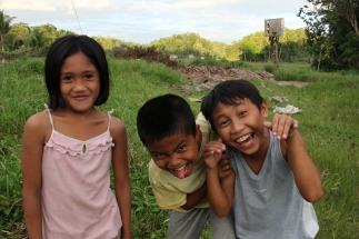 Kids on the island of Bohol They had such fun posing for all of us.