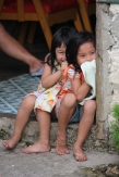 Girls on the island of Bohol - excited to see us, having lots of fun being silly.